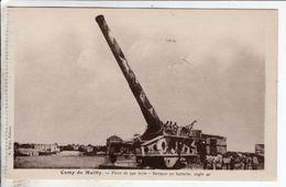 Cpa Camp De Mailly Piece De 340 Mm Berceau En Batterie Angle 40 - Matériel