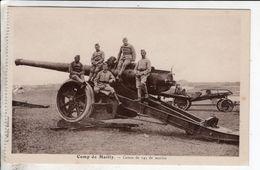 Cpa Camp De Mailly Canon De 145 De Marine - Matériel