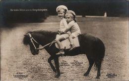 ! Alte Ansichtskarte, Adel, Royalty, Prinz Wilhelm Von Preußen, Louis Ferdinand, Pony, Aufnahme G. Berger, Potsdam 1909 - Familles Royales