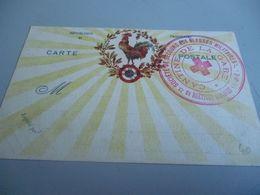 Carte Postale  GUERRE 14/18   AVEC SUPERBE CACHET CROIX ROUGE CANTINE DE LA GARE BRETIGNY SUR ORGE - 1914-18