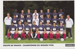 Equipe De FRANCE  Championne Du Monde 1998 - Football
