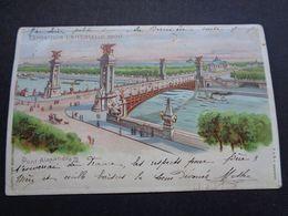 Carte ( 1364 )  Thème : Tegenlichtkaart  Hold To Light  Contre La Lumière -  Exposition Paris 1900 - Contre La Lumière