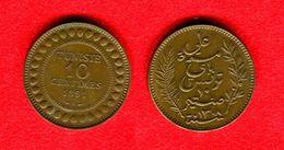 COLONIES - COLONIALES -  TUNISIE - TUNISIA - 10 CENTIMES 1891 - SUP - A GARDE UNE PARTIE DE ROUGE BRILLANT D'ORIGINE - Colonies