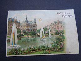 Carte ( 1365 )  Thème : Tegenlichtkaart  Hold To Light  Contre La Lumière -  Gruss Aus Köln  Cöln  Keulen - Contre La Lumière