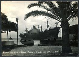 CV3473 PIETRA LIGURE (Savona SV) Veduta Del Porto Con Primo Piano Di Nave, FG, Viaggiata 1957 Per Cittiglio, Buone Condi - Savona