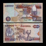 ZAMBIA 5000 KWACHA BANKNOTE 2001 UNC P-41b Scarce! - Sambia