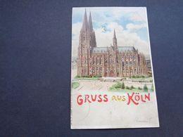 Carte ( 1366 )  Thème : Tegenlichtkaart  Hold To Light  Contre La Lumière -  Gruss Aus Köln  Cöln  Keulen - Contre La Lumière