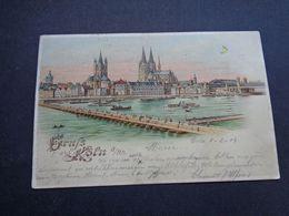 Carte ( 1367 )  Thème : Tegenlichtkaart  Hold To Light  Contre La Lumière -  Gruss Aus Köln  Cöln  Keulen - Contraluz