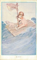 ILLUSTRATION M.B. ATTWELL / S.O.S. - Künstlerkarten