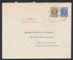 """Houyoux - N°255 Et 257 Sur Lettre En Expres Obl Télégraphe-téléphone """"Chimay"""" > Bruxelles. - 1922-1927 Houyoux"""