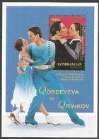 Azerbaidjan Azerbaycan 1998 Yvertn° Bloc 37 *** MNH Cote 5 € Jeux Olympiques D' Hiver Nagano - Azerbaïdjan
