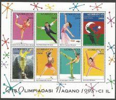 Azerbaidjan Azerbaycan 1998 Yvertn° 361-368 *** MNH Cote 6,40 € Jeux Olympiques D' Hiver Nagano - Azerbaïdjan