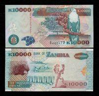 ZAMBIA 10000 (10,000) KWACHA BANKNOTE 2001 UNC P-42b Scarce! - Sambia