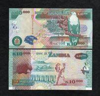 ZAMBIA 10000 (10,000) KWACHA BANKNOTE 2007 UNC P-46d Scarce!!! - Zambie