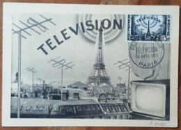 CM 1955 - YT N°1022 - LA TELEVISION - PARIS - Maximumkarten