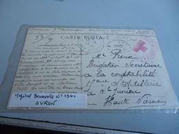 Carte Postale GUERRE 14/18  CACHET CROIX ROUGE HOPITAL BEBEVOLE N° 13 BIS D'EVRON MAYENNE - 1914-18