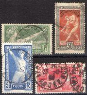 FRANCE ( POSTE ) S&P N°  183/186  TIMBRES  BIEN  OBLITERES , A VOIR . B 20 - Oblitérés