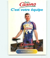 Frederic BESSY , Carte Format 7 X 10 Cm . 2 Scans. Cyclisme. Petit Casino 1996 - Cyclisme