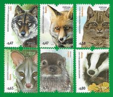 Portugal  2016 Mi.Nr. 4140 / 4145 , Mamiferos Predadores / Raub-Säugetiere - Postfrisch / MNH / (**) - 1910-... Republic