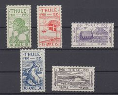 Greenland Thule1935 - Michel 1-5 MNH ** - Thulé