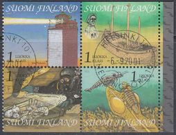 Finland 2001 - The Gulf Of Finland - From Booklet Mi 1578-1581 CTO FDC - Finland