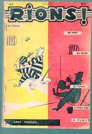 Recueil Contenant 4 N° ( N° 5 à 8)  De La Revue RIONS (ed Jacquier, Lyon) 1959  (M0305) - Humour
