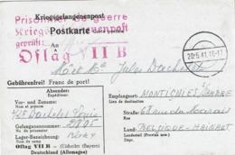 KRIEGSGEFANGENENPOST - Postkarte OFLAG IIB - Louis DACHELET - MONTIGNIES-SUR-SAMBRE (Reçu De Colis) - Lettres