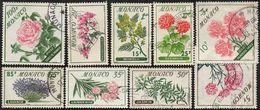 Monaco Obl. N°  5214 à 522 - Fleurs. Jasmin, Rose, Oeillet, Lavande, Princesse Grasse Etc.. - Monaco