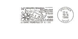 Département Des Hautes Alpes Maritimes - Le Cannet - Flamme Secap SPECIMEN - Marcophilie (Lettres)