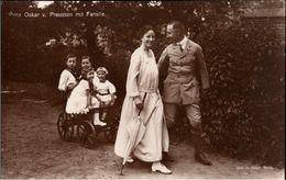 ! Alte Ansichtskarte, Adel, Royalty, Prinz Oskar Von Preussen Mit Familie, Verlag Potsdam - Familles Royales