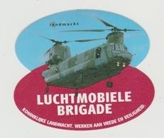 Sticker Koninklijke Landmacht Luchtmobiele Brigade (NL) Chinook Helikopter - Aviation
