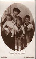 ! Alte Ansichtskarte, Adel, Royalty, Prinzessin Oskar Von Preussen Mit Kindern, Liersch Nr.7955, Niederastroth Potsdam - Familles Royales