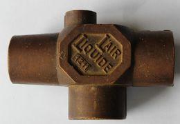 Rare Presse Papiers Ancien En Bronze ? L'Air Liquide Entreprise De Production De Gaz - Fermacarte