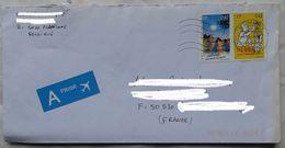Lettre Belgique Pour La France  2000 Timbre 2 Dont Tintin - Belgium
