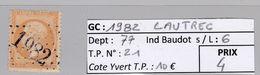 GC 1982 Lautrec ( Dept 77 ) S / N° 21 - Marcophilie (Timbres Détachés)