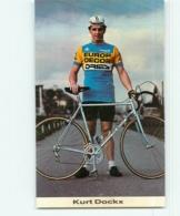 Kurt DOCKX , Carte Format 6.5 X 10.5 Cm . Cyclisme. Europ Decor Dries 1983 - Cyclisme