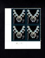 1037184406 SCOTT 3750 POSTFRIS MINT NEVER HINGED EINWANDFREI - AMERICAN DESIGN SERIES - NAVAJO NECKLACE PLATE BLOCK - Etats-Unis
