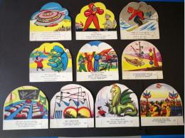 SPACE VINTAGE TRADING CARDS LOT - MARS ADVENTURE - FRANCE ABOUT 1955 - UFO - Süsswaren