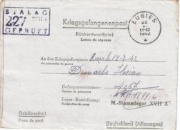 KRIEGSGEFANGENENPOST - Rückantwordbrief  - Florian DEMARBE (Stalag XVII A) De EUGIES Du 22-VI-1942 - Lettres