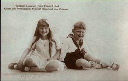 ! Alte Ansichtskarte, Adel, Royalty, Prinzessin Luise Mit Prinz Friedrich Karl Von Preussen - Familles Royales