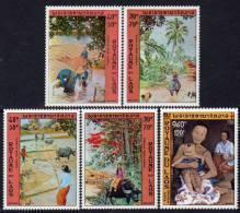 Laos P. A.  N° 96 / 100  XX  Tableaux De Marc Leguay, Les 5  Valeurs  Sans  Charnière   TB - Laos