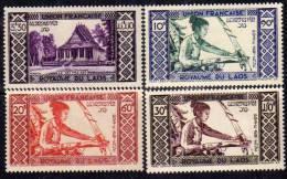 Laos P.A.  N° 1 / 4 X  Les 4 Valeurs Trace De Charnière Sinon TB. - Laos