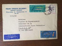 POLOGNE 1961 AVIRON CANOE KAYAK - 1944-.... Republic