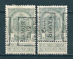 1859 Voorafstempeling Op Nr 81 - NAMUR 1912 NAMEN - Positie A  & B - Préoblitérés