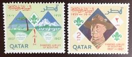 Qatar 1967 Scouts 2 Values MNH - Qatar