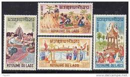 Laos N° 134 / 37  XX  Folklore La Série Des 4 Valeurs Sans Charnière, TB - Laos