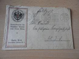 Brief Centralkomitee Deutsches Rotes Kreuz Von  1916 - 1914-18