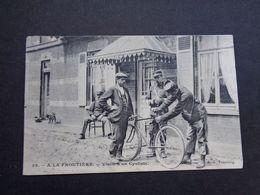 Carte ( 1383 )   Thème :  Douane  Frontière  Grens   Cycliste  Vélo - Douane