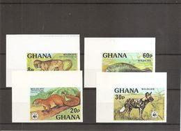 WWF ( 589/592 Non Dentelés XXX -MNH- Du Ghana) - W.W.F.