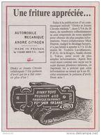 Coupure De Presse -  DINKY TOY - Peugeot 403 - Poisson D'avril - - Voitures